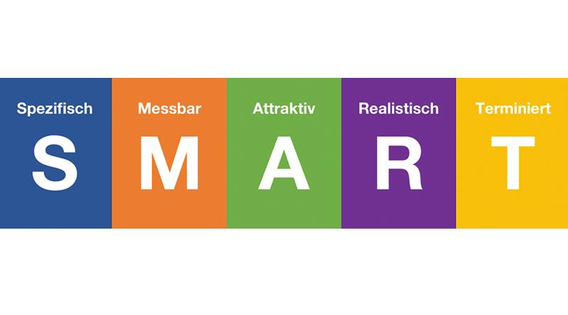 SMART ist eine Regel die es ermöglich Ziele realistisch, messbar und terminiert zu gestalten.