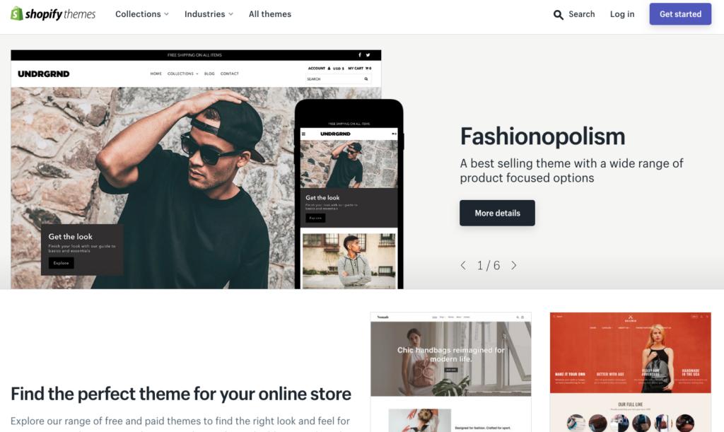 Shopify Shop erstellen und Theme wählen