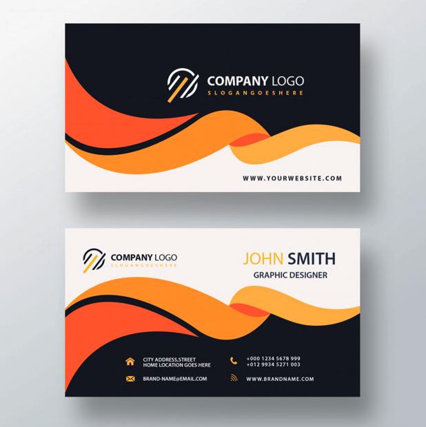 visitenkarten mit corporate identity logo und markter farbgebung