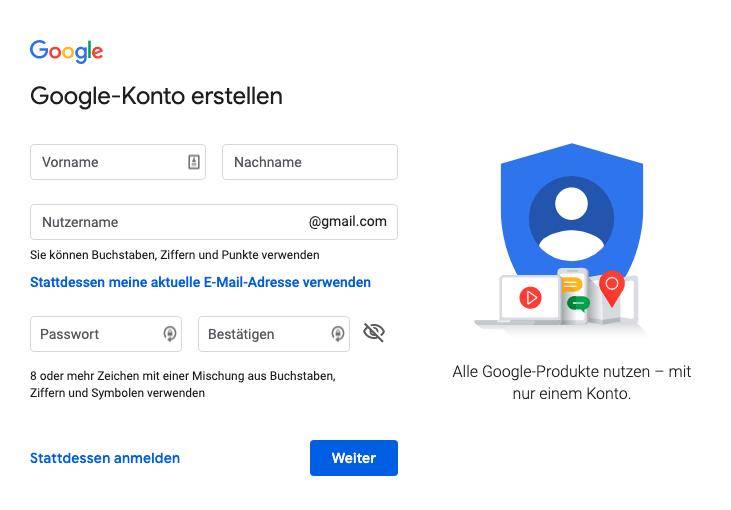 gmail konto einrichten