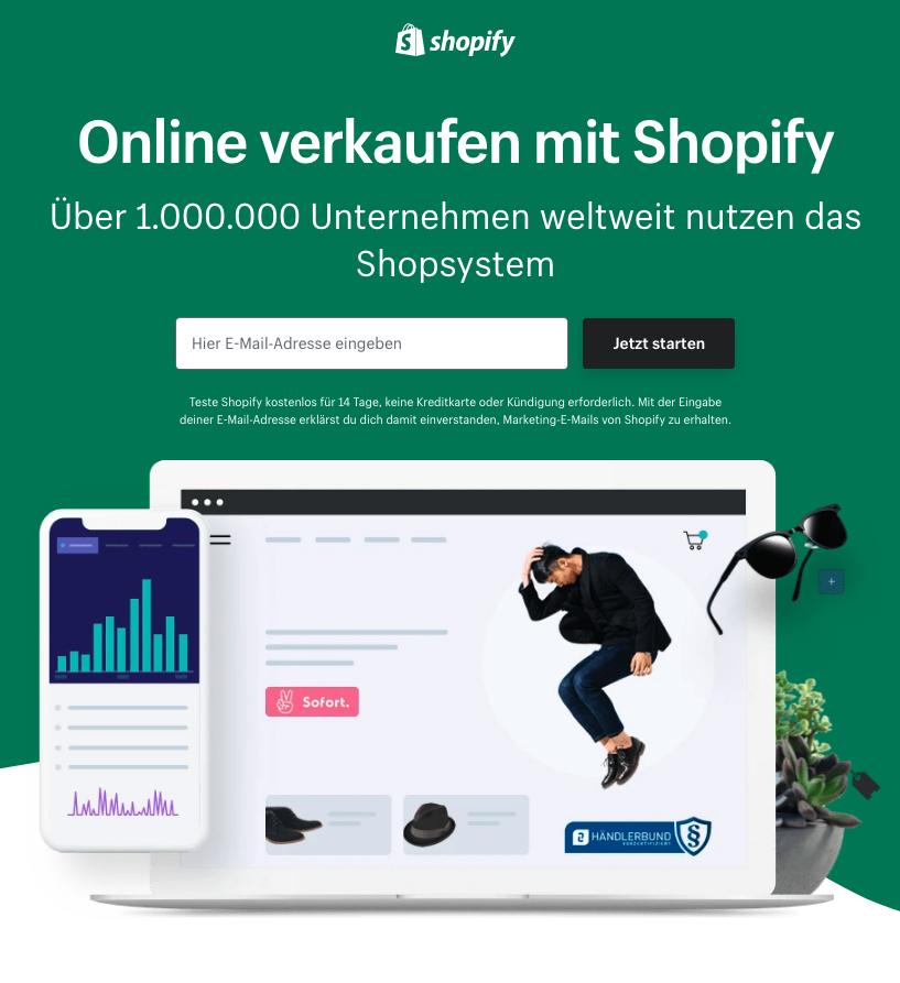 Shopify Shop erstellen